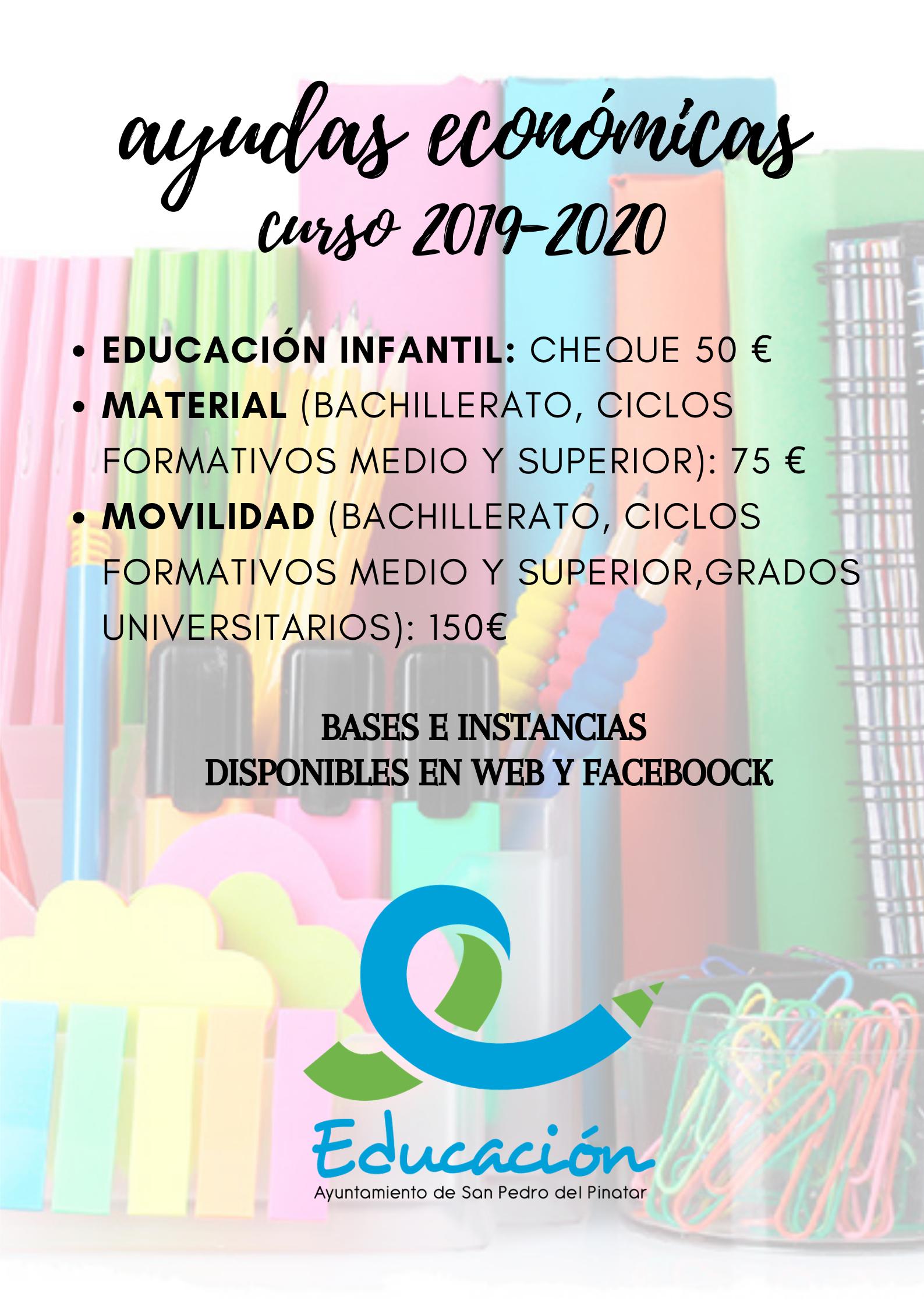 Ayudas Económicas Para El Curso Escolar 2019 2020 Excmo